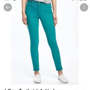 J. Crew Teal Toothpick Ankle Jeans